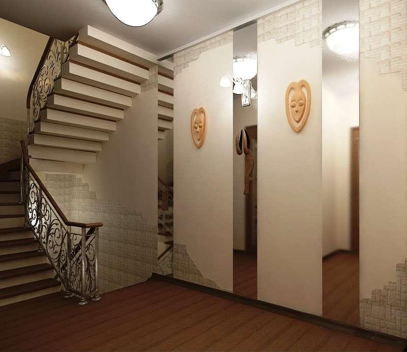 Холл на втором этаже фото