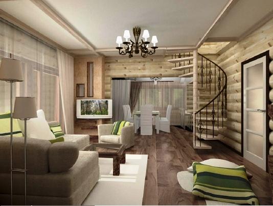 Дизайн интерьера дома загородного